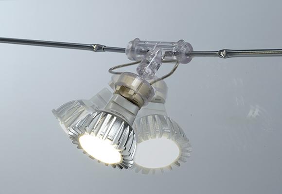 Illuminazione con faretti orientabili
